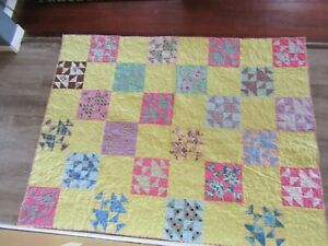 vintage handmade quilt - Wow Stunning Condition With Amazing Bright Colors