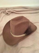 cfdb3691ccf0a Mens XL Rockmount Pinch Hat Tan Beige Teton Ranch Wear Harry Belafonte