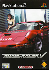 RIDGE RACER V (5) for Playstation 2 PS2 - with box & manual - PAL