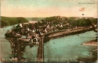 Vtg Postcard 1907 Harpers Ferry WV West Virginia Birdseye View Railroad Bridge