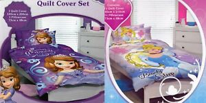 2 x Girls Kids DISNEY PRINCESS SINGLE Duvet/Doona/Quilt Cover Sets BNIP