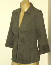 H&M Collared68%CottonBlendHookFront3/4Sl Sz10 as NEW
