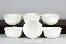 Set of 2 Dessert Fruit Bowls, MINT & NEAR MINT! Luca Cream, Home Accents