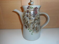 CHRIS ASTON ELKESLEY POTTERY NOTTINGHAMSHIRE AUTUMN LEAVES & BERRIES COFFEE POT