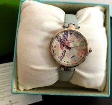 Kate Spade Womens Holland Butterfly Mint GREEN Leather Strap Watch KSW1414 NEW