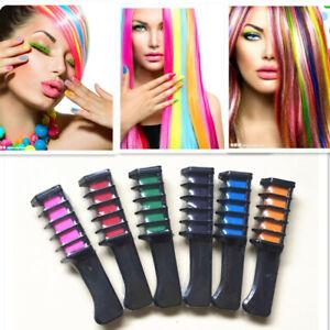 Hair Chalk Comb Temporary Color Makeup Hair Coloring Chalk Comb Hair DIY Dye Set