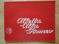 Alfetta Brochures Alfa Romeo Car Sales Brochures