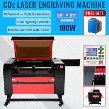 Omtech 100w 28x20 Co2 Laser Engraver Cutting Engraving Machine With 5200 Chiller