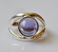 100% Color Change Labcreated Alexandrite 925 Solid Sterling Silver Handmade Ring