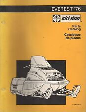 1976 SKI-DOO EVEREST SNOWMOBILE PARTS MANUAL P/N 480 1045 00 (353)