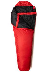 Snugpak Travelpak 1 Lightweight Sleeping Bag with Built-in Mosquito Net Red NEW