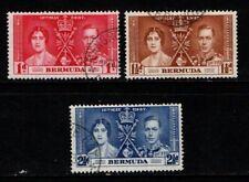 Bermuda 1937 Coronation SG107-09 Used