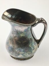 Antique Reed & Barton Silver Soldered US Navy  Captains Creamer Pitcher