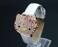 Cartoon Hello Kitty Watch Children Girls Crystal Quartz Wrist Digital Watches