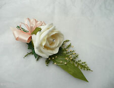 Wedding Flower Buttonhole Champagne Blush Rose & Champagne  .....PIN ON