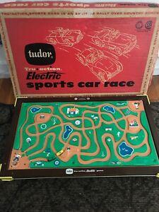Vintage 1959 Tudor Electric Sports Car Race in Original Box  Made Brooklyn N. Y.