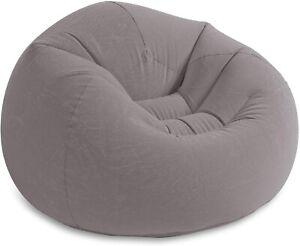 Intex Beanless Bag-Inflatable-Chair, 45 X 45 X 28, Gray