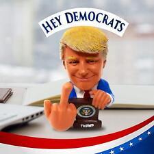 Donald Trump F#K U Democrats & F##K U Fake News  Bobble Finger Bobblehead FUNNY!