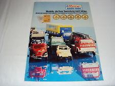 W/2/13/3 Modell Modellauto Katalog Prospekt Roco Miniatur Modell PKW LKW Waggons
