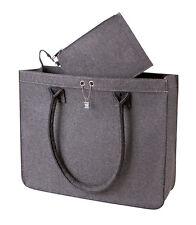 HALFAR Filz Tasche, grau ModernClassic City-Shopper inkl. kleine Tasche HF7556