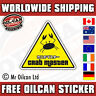crab master sticker / JDM eurolook dub vag drifting, mr oilcan 90x100mm