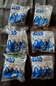 Lot Of 6 Star Wars EPISODE 3 Burger King Toys NIB