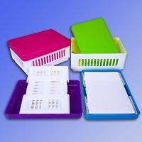 1,2 Liter faltbare Aufbewahrungsbox mit Deckel, Mini Klappbox, Faltbox Korb