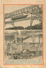 Air Train Wagon Aérien Milgavie Glascow Scotland Écosse UK 1930 ILLUSTRATION