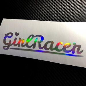 OIL SLICK Girl Racer Heart Car Sticker Decal JDM Vdub Drift Track Cute Babe