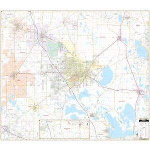 Gainesville & Alachua Co, FL Wall Map