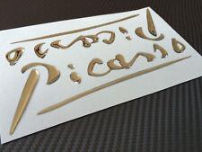 Citroen PICASSO Aufkleber Emblem Schriftzug Kotflügel Picasso 3D chrome