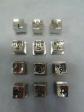 New Metal Telephone Keypad Buttons with Letters Payphone Prison Phones Key Pad
