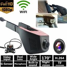 Wifi Dash Front Rear cam HD 1080p Dual Lens Car Hidden Camera DVR Android IOS VP