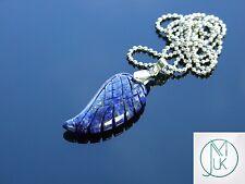 Lapislázuli Piedra Preciosa Ala De Ángel Colgante Collar de piedra de curación natural Chakra
