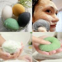 Cleansing Sponge Natural Konjac Konnyaku Fiber Face Wash Cleaning Tool Hot~