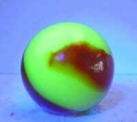 #12731m Vintage Akro Agate Cherryade Corkscrew Shooter Marble .98 Inches Glows