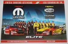 "2016 Erica Enders + Jeg Coughlin, Jr. ""2nd issued"" Dodge Dart PS NHRA postcard"