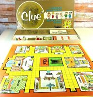 Vintage 1963 Clue Parker Brothers Detective Game Only Needs 2 Pieces!  USA