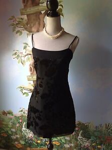 Rampage USA Black Women Spaghetti Strap Mini Evening Dress Size 5