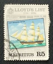 Mauritius stamps - East Indiaman Triton  5 rupee 1984