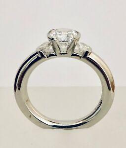Rudolf Erdel Platinum Engagement Ring with CZ Center
