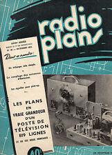 Revue Radio Plans - N° 48 -  Oct 1951  - Postes récepteurs de Radio - Télévision