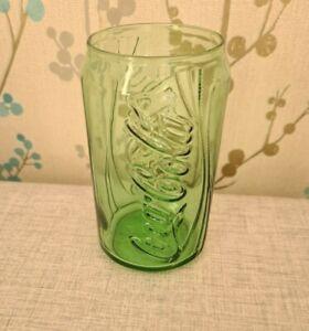 Retro Vintage COCA COLA Coke Can Shaped Glass Green Glass