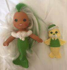 Kenner Sea Wees Green Doll And Walrus Vintage