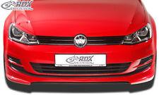 RDX Frontspoiler VW Golf 7 Front Spoiler Lippe Vorne Ansatz PUR ABS
