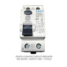 ELCB Earth Leakage Circuit Breaker F&G G - BIS Certified 25Amps 2pole 30mA