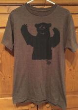 Ames Bros Men's T Shirt Size M Medium BIG BEAR Graphic Tee Brown VGUC