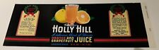 Holly Hill Orange & Grapefruit Juice Holly Hill Fruit Products Inc Davenport Fl