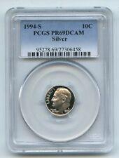 1994 S 10C Silver Roosevelt Dime Proof PCGS PR69DCAM