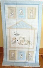 "1 Darling Flannel Blue ""Bears & Buddies"" Quilting/Wallhanging Fabric Panel"